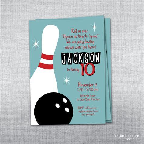 einladungskarten kindergeburtstag basteln bowling