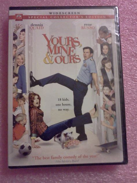 rene russo dennis quaid movie yours mine and ours dvd dennis quaid rene russo new