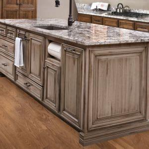 distressed gray kitchen cabinets custom island custom cabinetry gray grey distressed