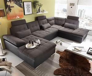 Big Sofa L Form : wohnlandschaft jerrica 325x220 grau schwarz schlaffunktion m bel sofas wohnlandschaften ~ Frokenaadalensverden.com Haus und Dekorationen