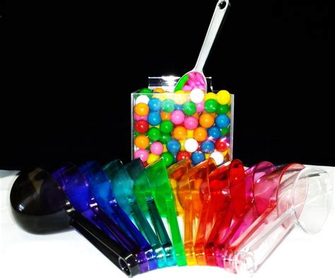 Candy Scoops Clear Plastic Scoops Colored Candy Scoops