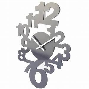 Horloge Murale Grise : horloge murale design avec chiffres ~ Teatrodelosmanantiales.com Idées de Décoration