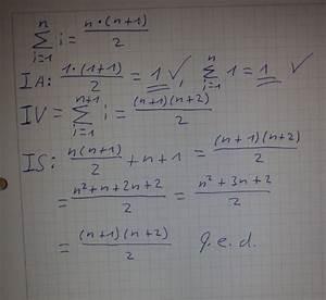 Induktion Berechnen : induktion vollst ndige induktion summe von nat rlichen zahlen alles beachtet mathelounge ~ Themetempest.com Abrechnung