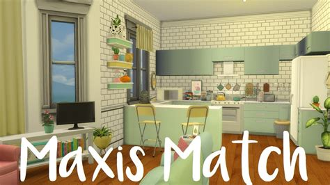 the sims 4 maxis match apartment cc speed build youtube