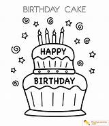 Cake Birthday Coloring Date sketch template