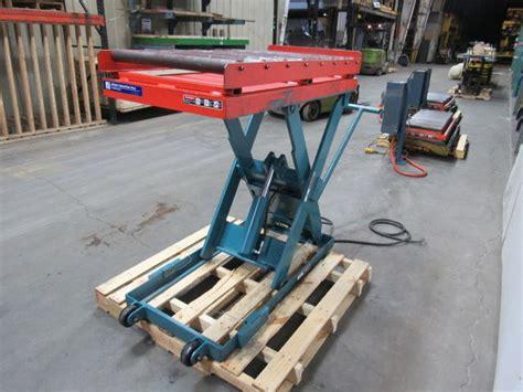 advance lp  lb hydraulic scissor roller lift table