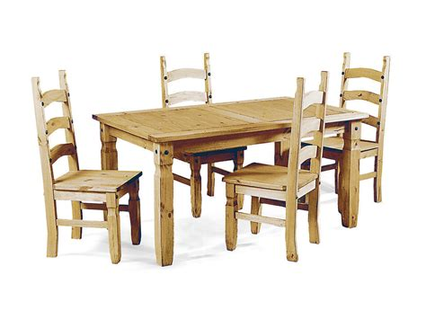 soild pine wooden dining table   chairs homegenies