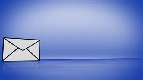 Background Email by Blue Mail Icon In Sparkle Shine Background Animation For