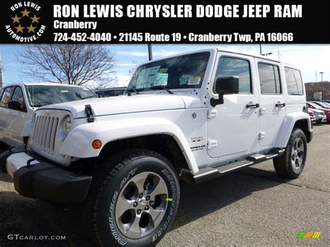 jeep sahara white 2016 2016 bright white jeep wrangler unlimited sahara 4x4