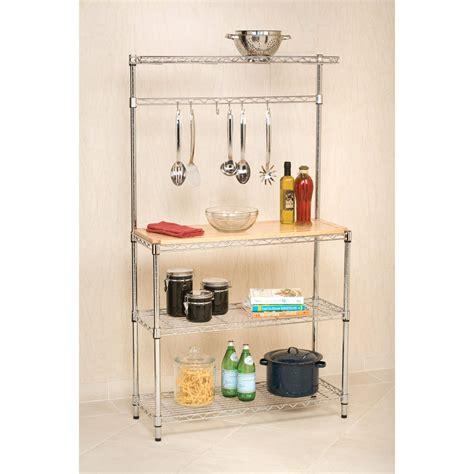 kitchen rack organizer seville classics bakers rack kitchen workstation review 2474