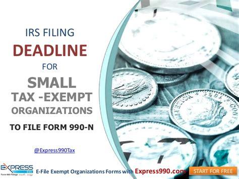 tax exempt organizations  file form