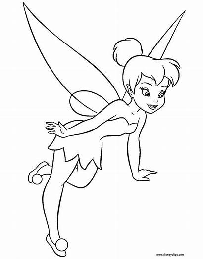 Bell Tinker Coloring Pages Fairies Disney Fairy