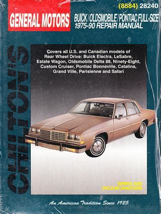 auto repair manual online 1990 buick electra free book repair manuals 1975 1990 buick oldsmobile pontiac full size chilton s total car care manual