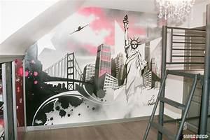 Décoration New York Chambre : d coration chambre d 39 enfants paris new york contemporain chambre paris par hard deco ~ Melissatoandfro.com Idées de Décoration
