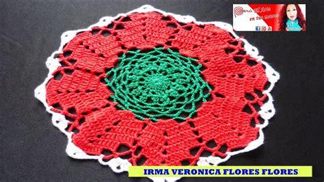 como tejer este tapete peque 209 o de navidad tejido a crochet paso a paso youtube