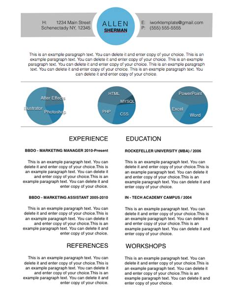 Modern Resume Template 2014 by Modern Circles Resume Template Free Iwork Templates