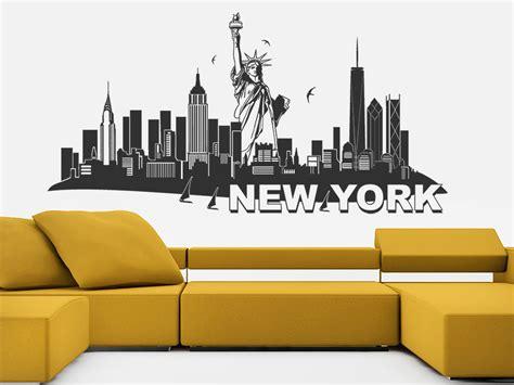 wandtattoo new york wandtattoo new york mit freiheitsstatue skyline wandtattoo de