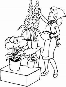 Jardin Dessin Couleur : coloriages jardin ~ Melissatoandfro.com Idées de Décoration