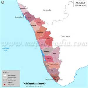 Kerala Tehsil Map
