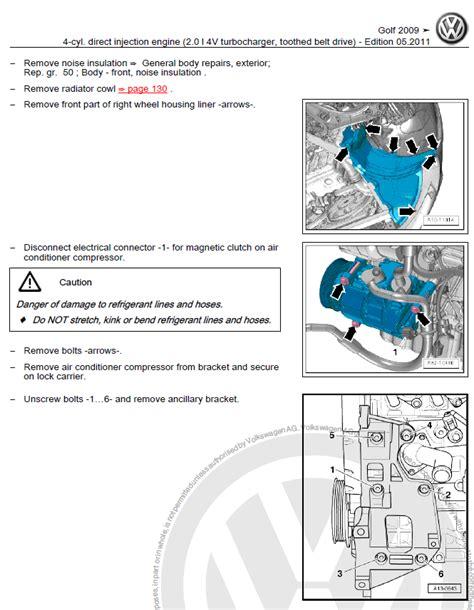 vw golf 6 vi 2009 2013 repair manual factory manual