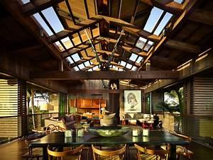 Hawaiian Pavilions With Beautiful Tropical Landscape