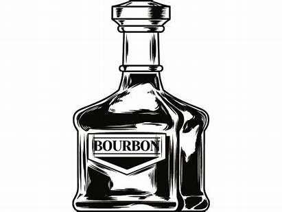 Bottle Bourbon Liquor Alcohol Drink Svg Clipart
