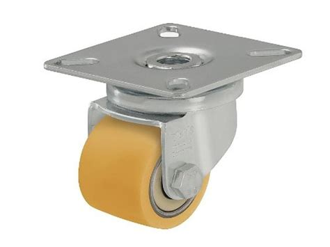 blickle low profile swivel plate caster with yellow