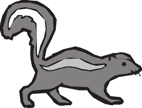 cartoon skunk draw clipart clipart suggest