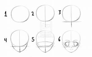 Easy Anime Drawings Step By Step - Drawing Sketch Picture