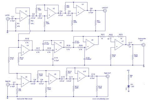 Hk395 Subwoofer Wiring Diagram by Subwoofer Filter Circuit Diagram World