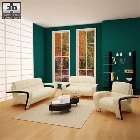 Model Living Room Set by Living Room Furniture 08 Set 3d Model Furniture On Hum3d