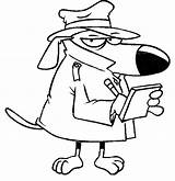 Detective Coloring Dog Taking Notes Netart Note Spies Rehab Mouse Meme Identity Minnie Faces Disney Bts sketch template