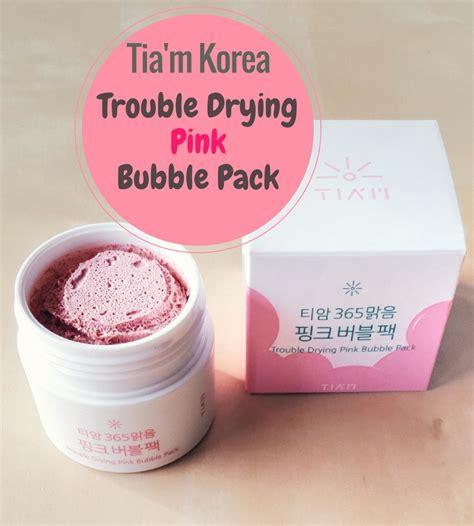 REVIEW: Tia'm Trouble Drying Pink Bubble Pack Schaum Maske!