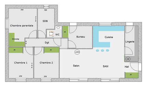 plan maison en l 4 chambres plan maison en l avec 4 chambres