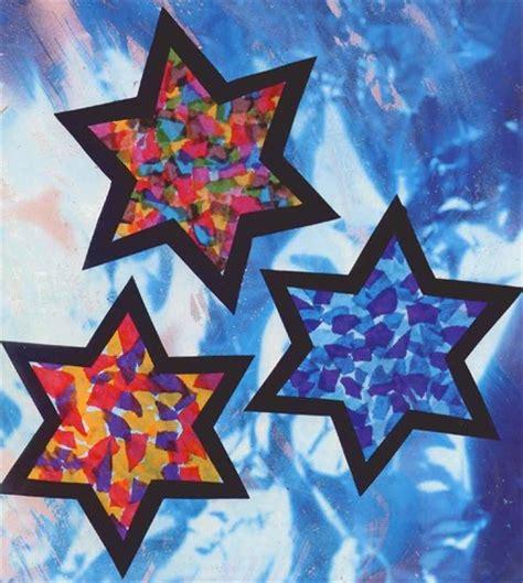 stars craft children stained tissue craft for