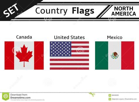 World Flags. North America. Cartoon Vector   CartoonDealer ...