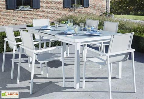 salon de jardin verre trempe salon de jardin aluminium et verre whitestar table 6 fauteuils wilsa