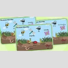 Print  Minibeast Scene Word Mat  Minibeast, Vocabulary