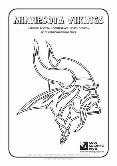 Coloring Nfl Vikings Pages Football Logos Minnesota