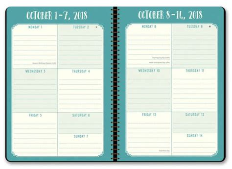 barnes and noble planners 2018 succulents on time weekly planner by orange circle