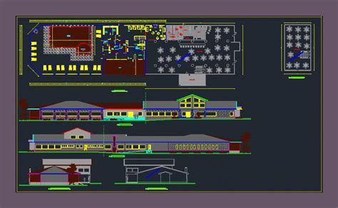 Center for Special Events 2D DWG Design Plan for AutoCAD