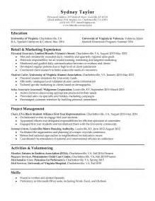 basic resume exles australia movie resume sles uva career center