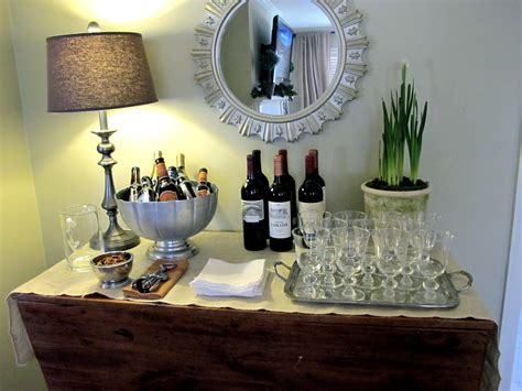 set   wine bar  home entertaining