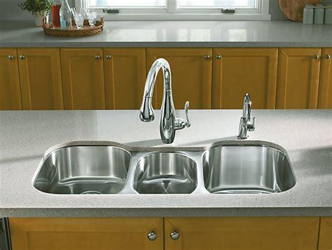 three bowl kitchen sink undertone bowl mount kitchen sink k 3166 l 6105
