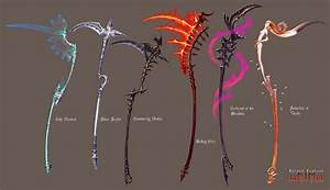 Anima: Scythes set 1 by Wen-M on DeviantArt