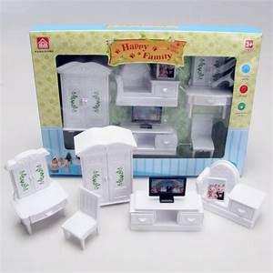 mini doll furniture house plastic white living room sets With living room furniture sets free shipping