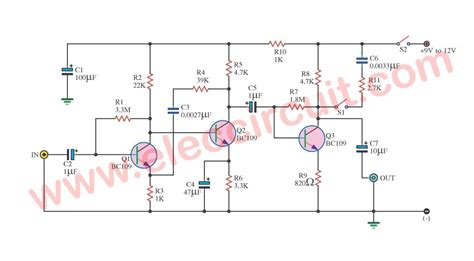 Preamplifier Circuits Using Transistors Eleccircuit