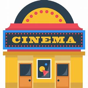technology, movie, film, buildings, cinema, Building icon