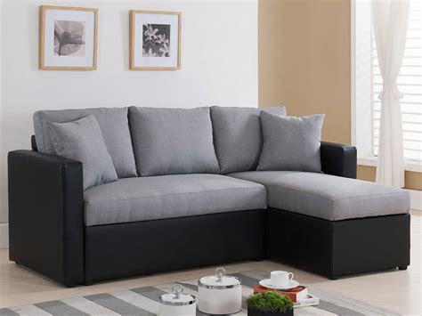 tissu pour canapé d angle canapé d 39 angle tissu réversible quot vigo quot avec coffre gris