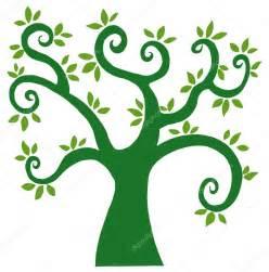 Cartoon Tree with Leaves